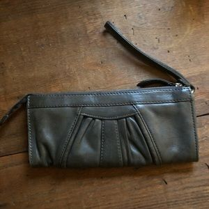 Cute Wristlet with Card and $ slots +zipper